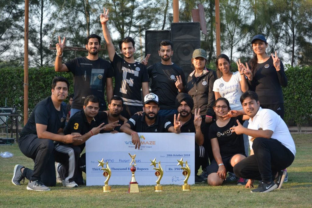 Winning Moment of Scorpio Knight Riders Team