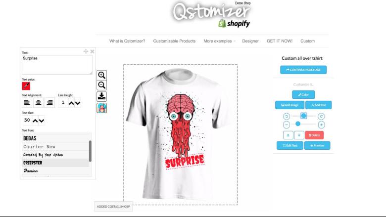 Qstomizer - Product Customizer