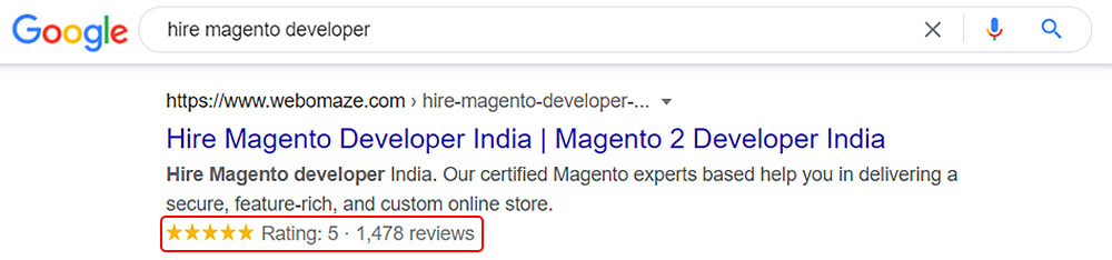 Rating Schema Preview for Hire Magento Developer
