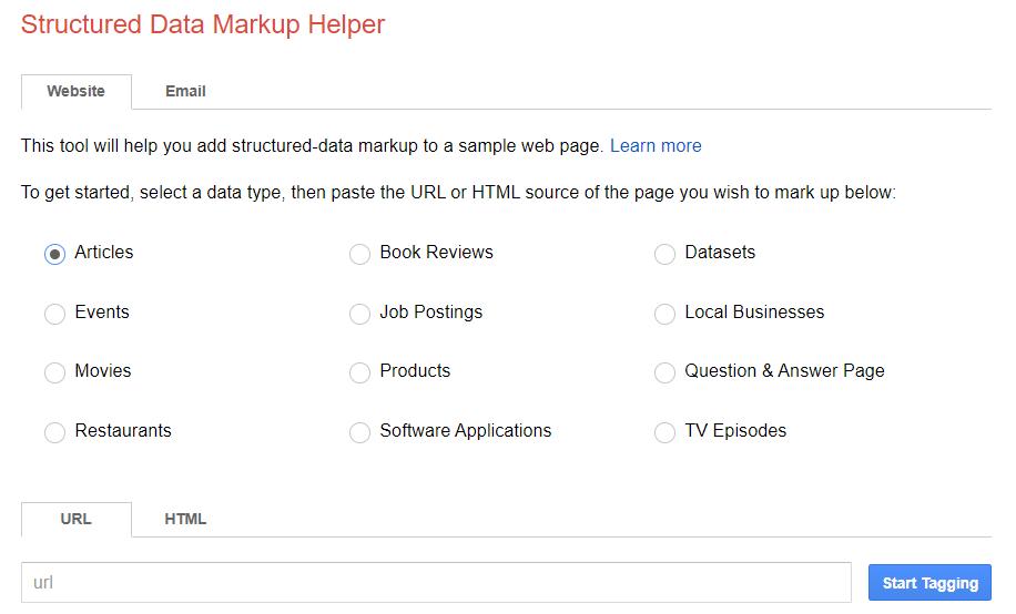 Structure Data Markup Helper