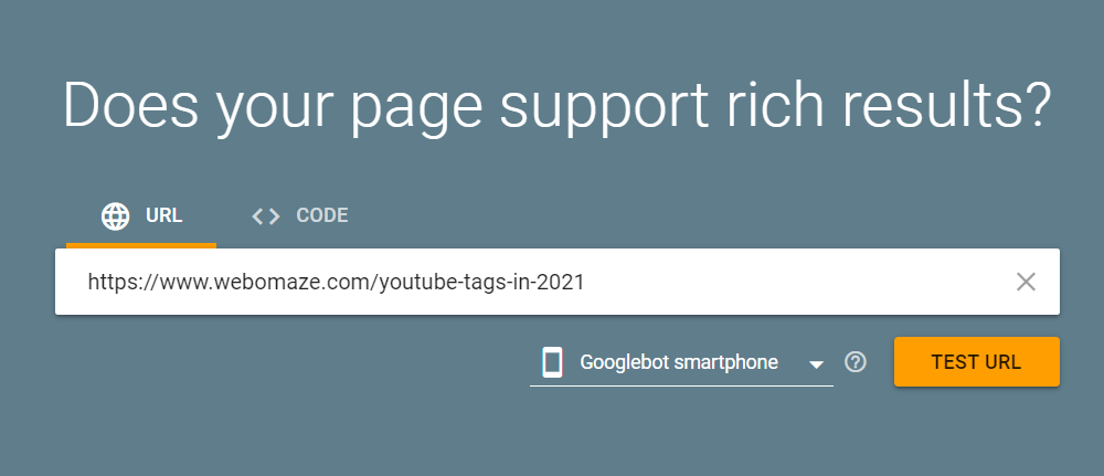 Testing Rich Snippets