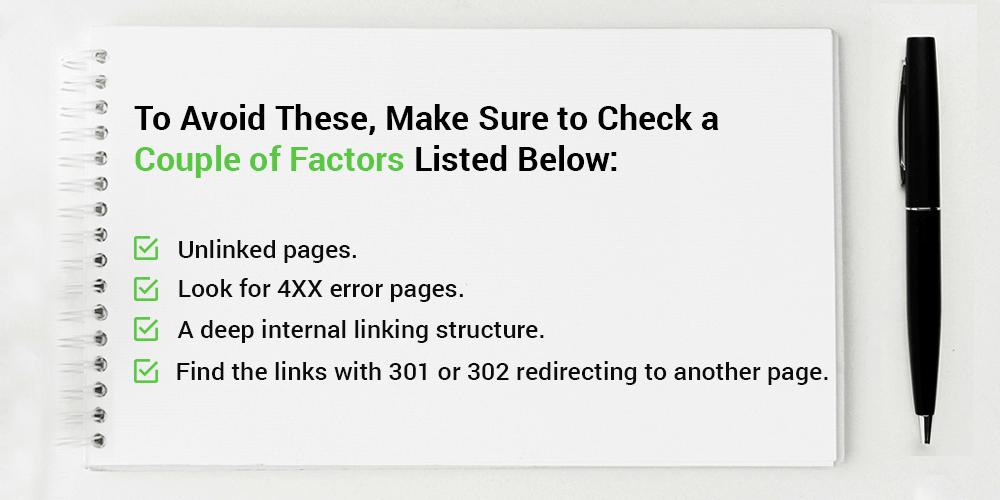 Broken Links - Couple of Factors to Check